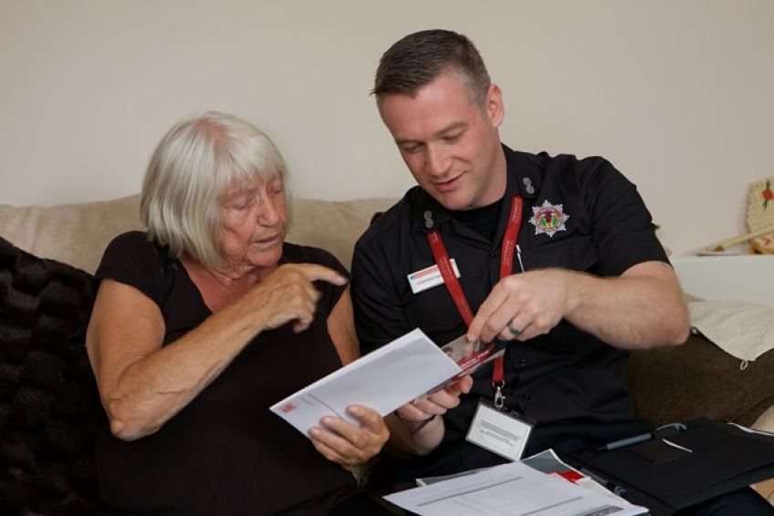 Fire safety officer and tenant