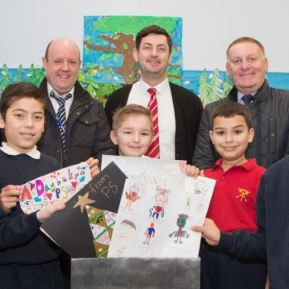 School pupils prepare time capsule