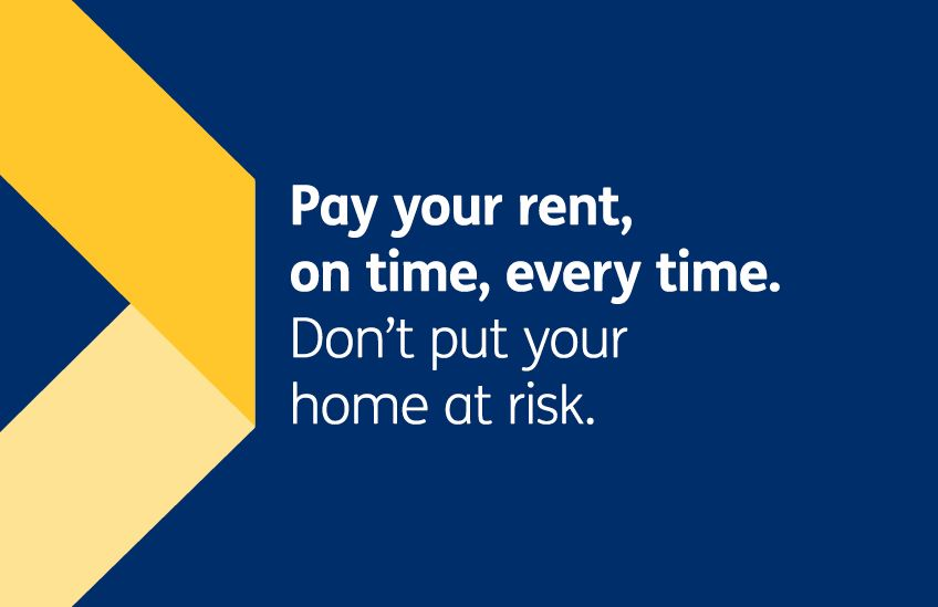 Rent campaign - Pay your rent on time every time letterbox DC