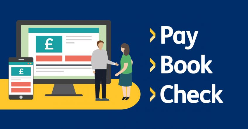 Pay Book Check graphic
